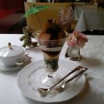 資生堂パーラー サロン・ド・カフェ『抹茶とほうじ茶のパフェ 東をどり』