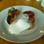 cafe Haru&haru『かぼちゃコンポートとレモンクリームのフレンチトースト』