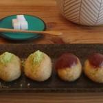 お茶とお菓子 横尾『あわだんご(和三盆入りきなこ、こしあん)』
