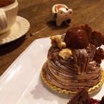 ジャルダン ノスタルジック『くりのモンブラン&木苺のガトーオショコラ』『かぼちゃのロールケーキ&木苺のガトーオショコラ』
