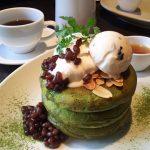 microcosmos『抹茶とわらび餅のパンケーキ~黒豆のアイスクリーム添え~』