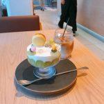 Triangle Cafe『シャインマスカットのパフェ』