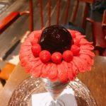 夜パフェ専門店パフェテリア miL『感謝のガーベラパフェ~ルバーブとブルーベリーと黒糖~』
